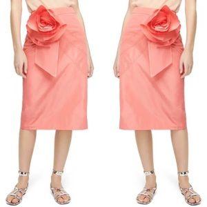 NWT J. Crew Taffeta Pencil Skirt with Rosette